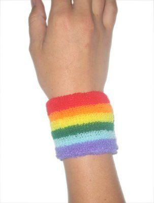 sweat bands...I usually just had white ones, but I did have a set this color :)