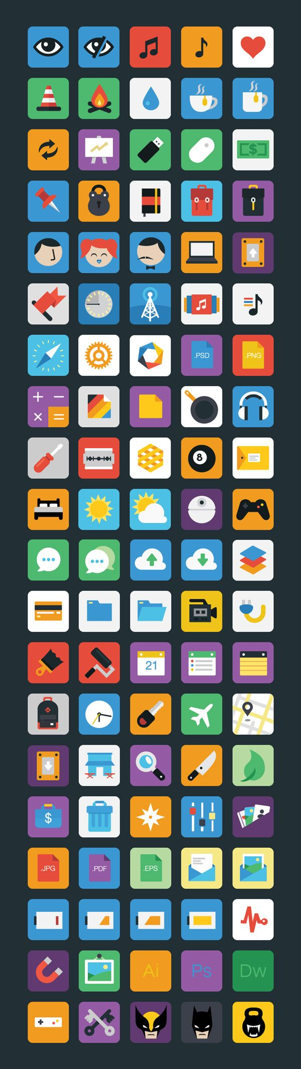 Stylicons flat icons