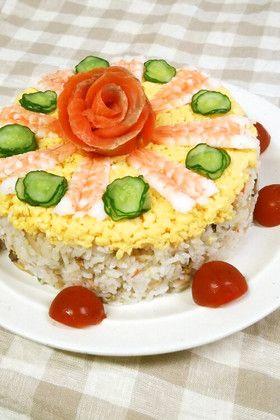 お祝いに♪ちらし寿司ケーキ by ふうさく77 [クックパッド] 簡単 ...