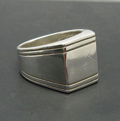 Sterling Silber Männer ring massivem 925 Anhänger