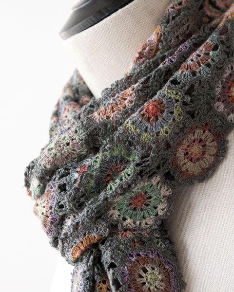 Sophie Digard 2014 PIVOINE LINEN SCARF crochet