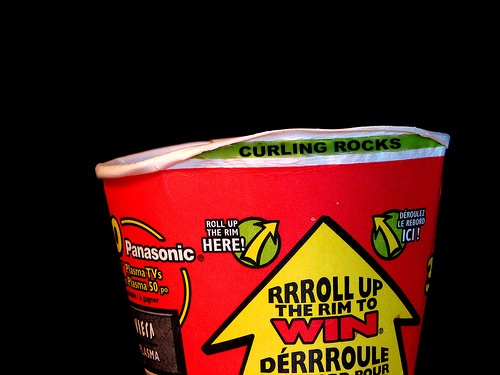 Roll up the rim to win... #curling #TimHortons