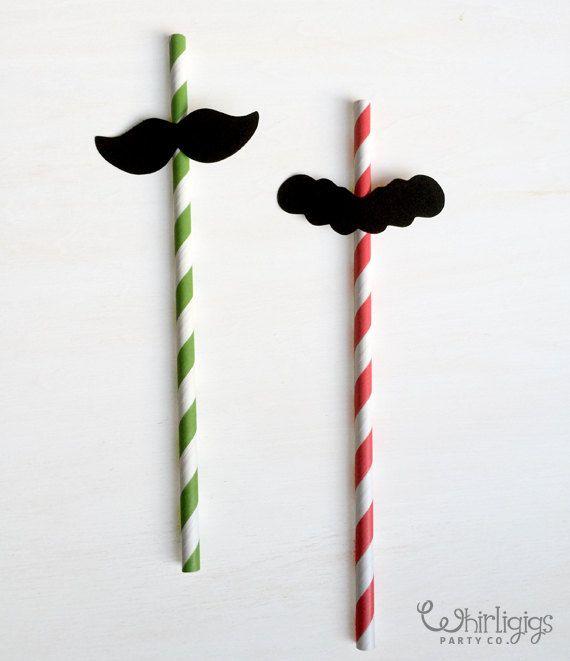 12 Mario & Luigi bigote pajas por whirligigspartyco en Etsy