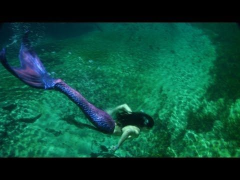 Real Mermaids Swimming Together!