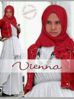 Baju Maxi Viena Red dan Pashmina R803, Ready Stok, Untuk pemesanan dan informasi silahkan hubungi admin di SMS/WhatsApp: 085259804804