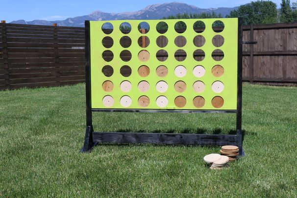 DIY Four In A Row Yard Game