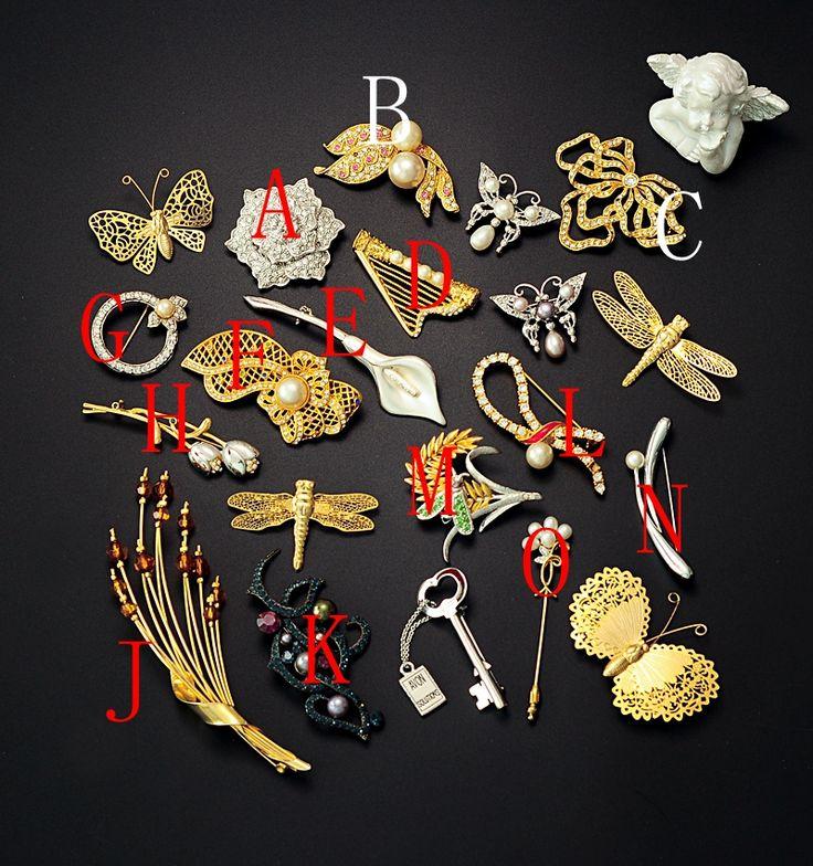 Урожай американский стиль античный индивидуальная маркировка лук жемчужный брошь букет цветов стрекоз Avon - глобальной станции Taobao