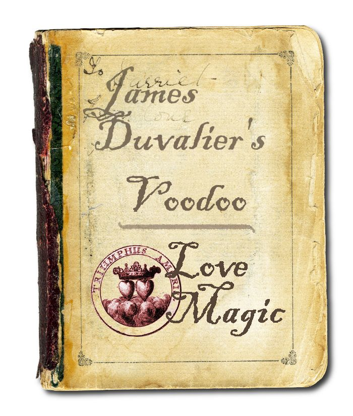 an e- book cover that I created for James Duvalier