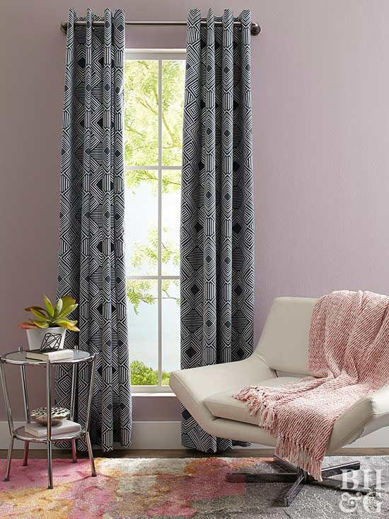 Curtains can make or break a space, so why not have more control over their look? Easy measuring and simple sewing give you a pair of grommeted curtain panels to cover any window with style.