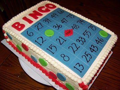 Plumeria Cake Studio: Bingo Card Cake
