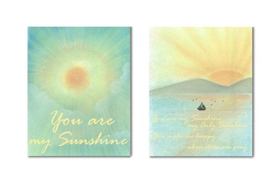 My Sunshine Baby Wall Art You are my Sunshine Wall Art