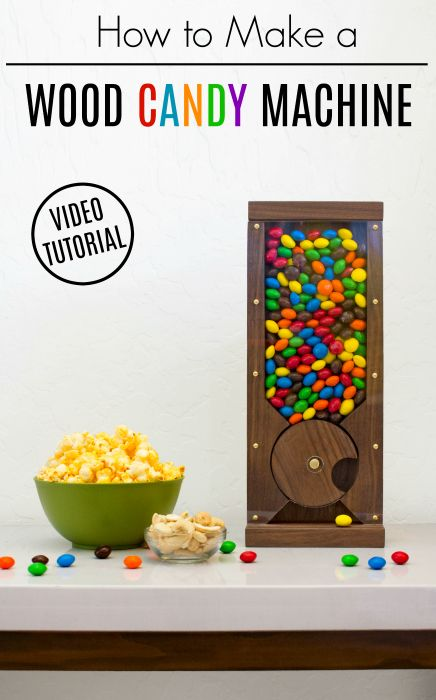 DIY Woodworking Ideas How to make an easy wood candy machine to dispense your favorite treats. A simpl...
