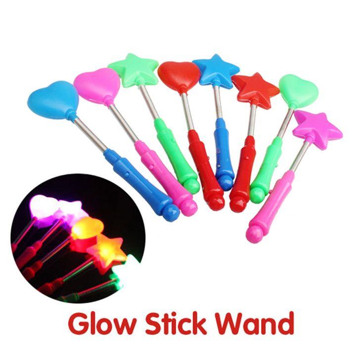 Nhấp nháy LED Light Glow Wand Stick Ánh Sáng Cây Đũa Blinking LED Glow Stick Nhẹ Ma Thuật Glow Stick Màu Sắc Ngẫu Nhiên