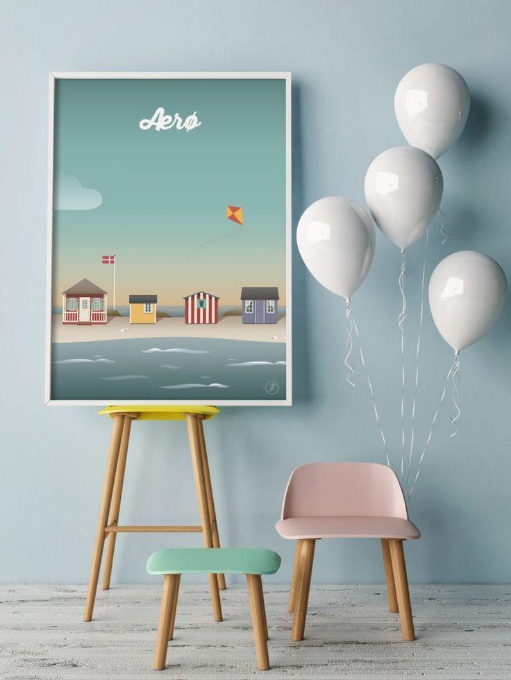 Ærø Plakat #aeroe #byplakat #design #danmark #dansdesign #danish #illustration #graphicart #artwork