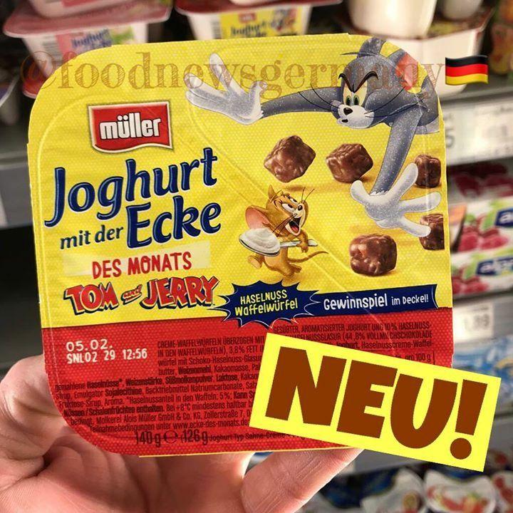 mÜller joghurt mit der ecke tom  jerry edition