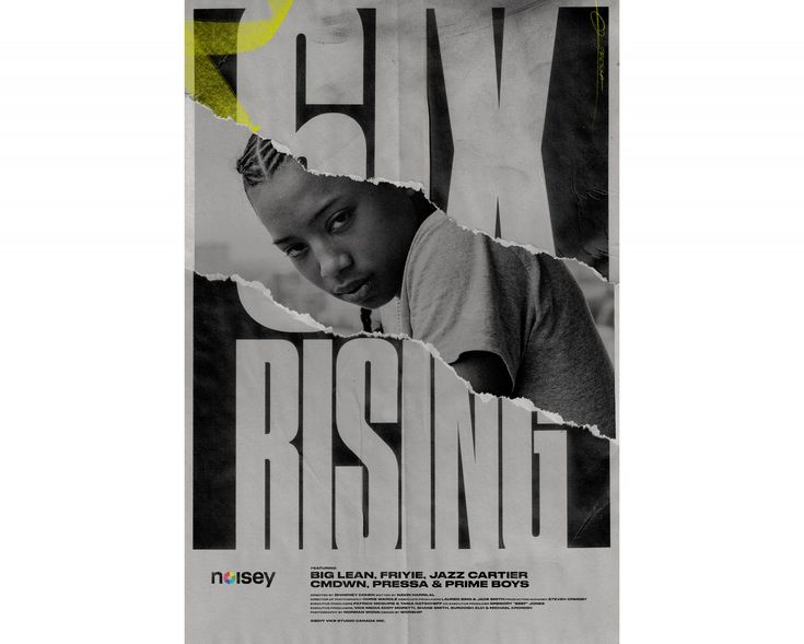 Film titles and key art for VICE/NOISEY Documentary 6IX RISING.
