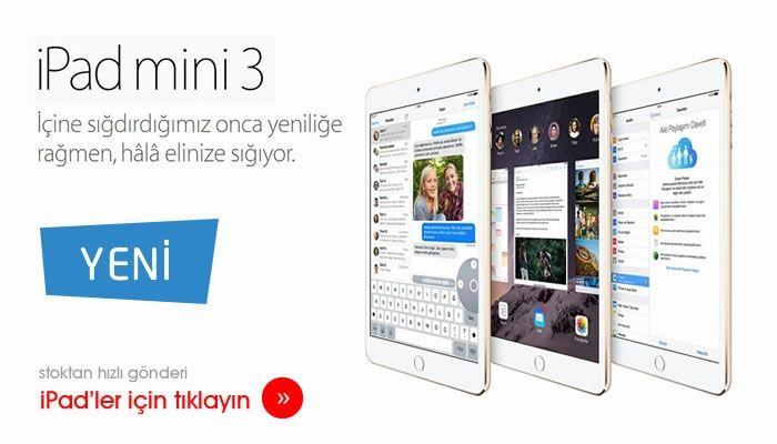 Yeni iPad mini 3, Dünyayı avucunuzun içinde tutun.
