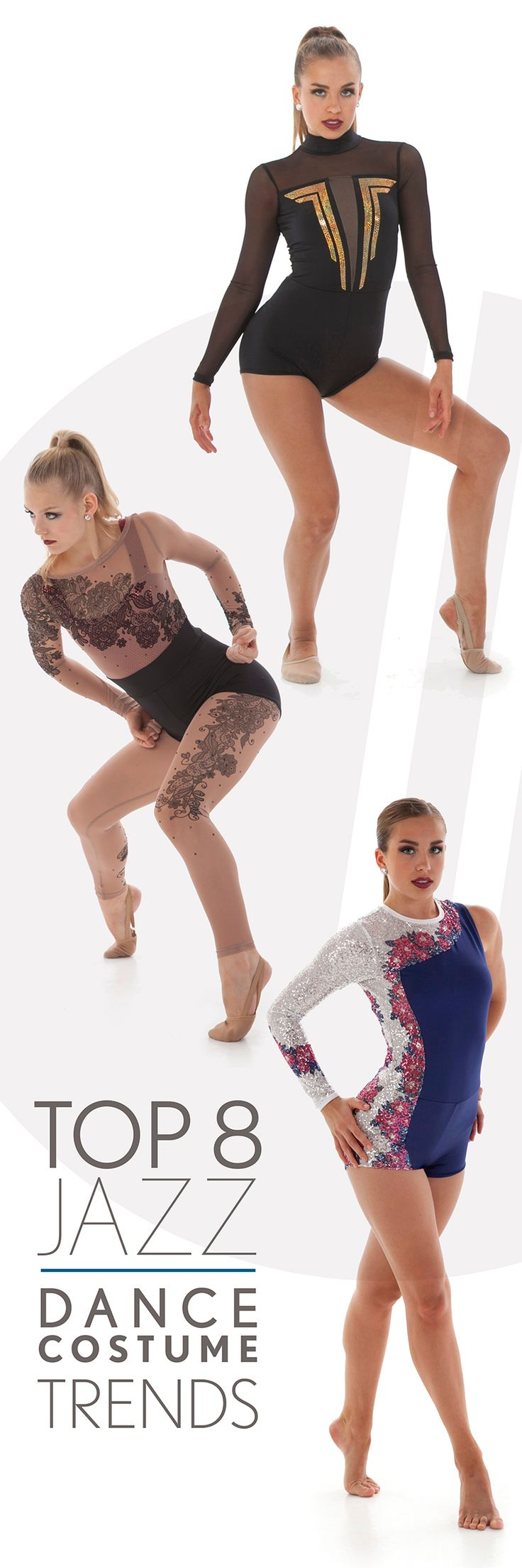 Top 8 Jazz Costume Trends for 2017!  Look's you'll love for your dance team costume!