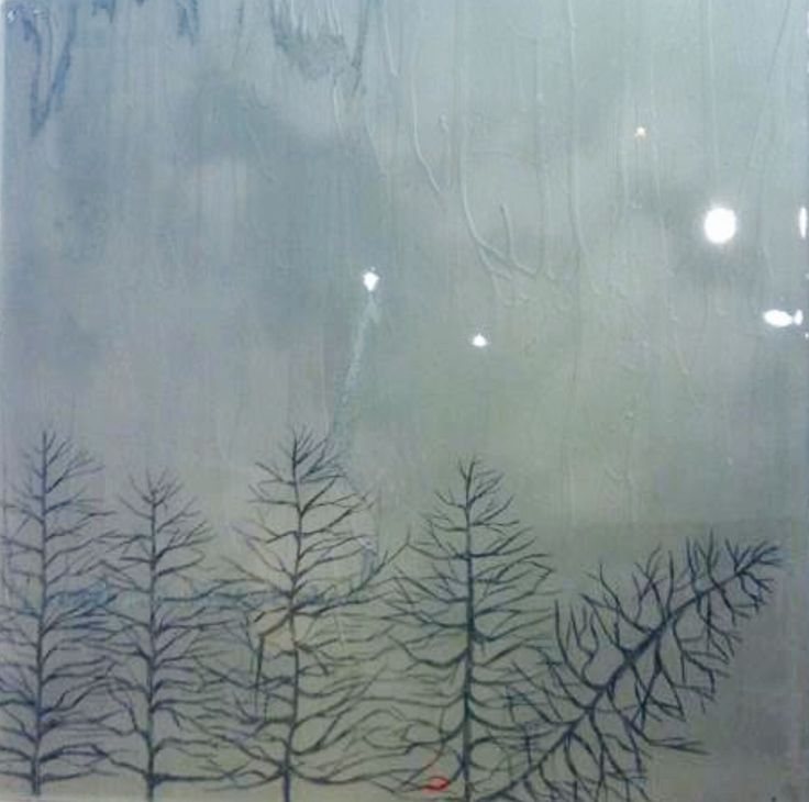 Acrylic and resin painting called 'Fallen' by Emma McCaul