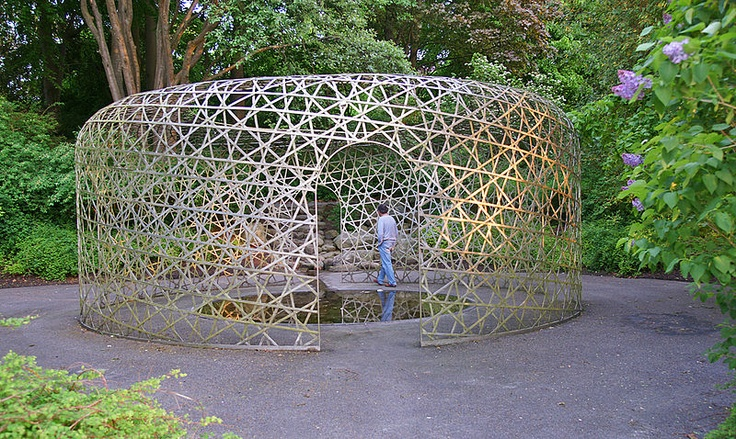 """5-Dimensionel Pavillon"""", an early work of Olafur Eliasson, created 1998-2000 in Holbæk, Denmark, where he grew up"""