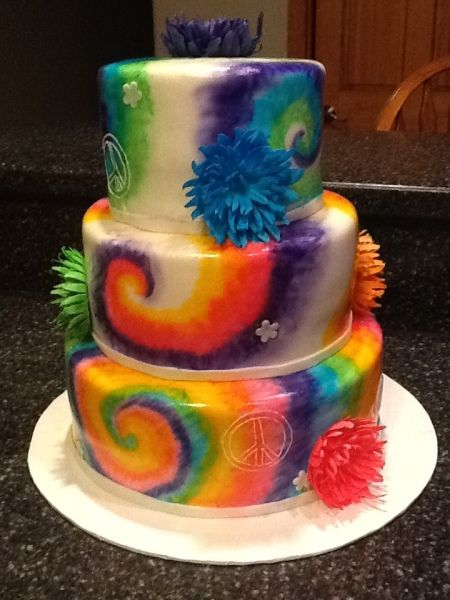 Tie Dye Baby Boy Shower Ideas Tie Dye Cake Decorating