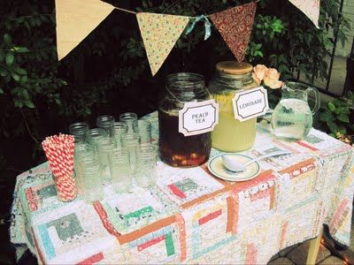 Outdoor Country Party Beverage Table