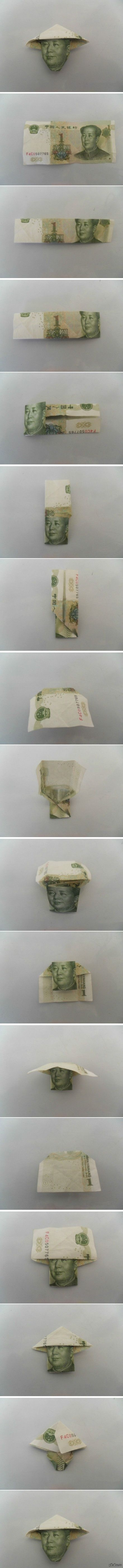 Вьетнамская шапочка Делаем вьетнамскую шапочку товарищу Мао. Для создания необходима одна китайская деньга :)  деньги, длиннопост