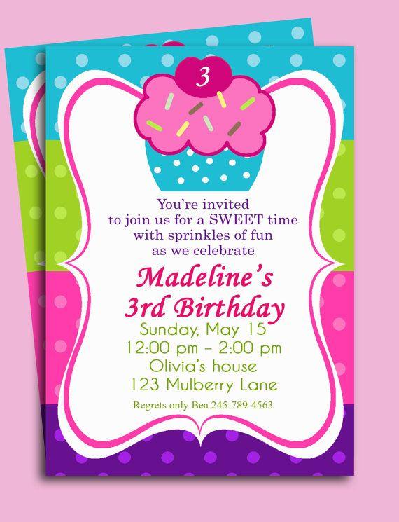 147 best girl birthday invitations ideas images on pinterest, Birthday invitations