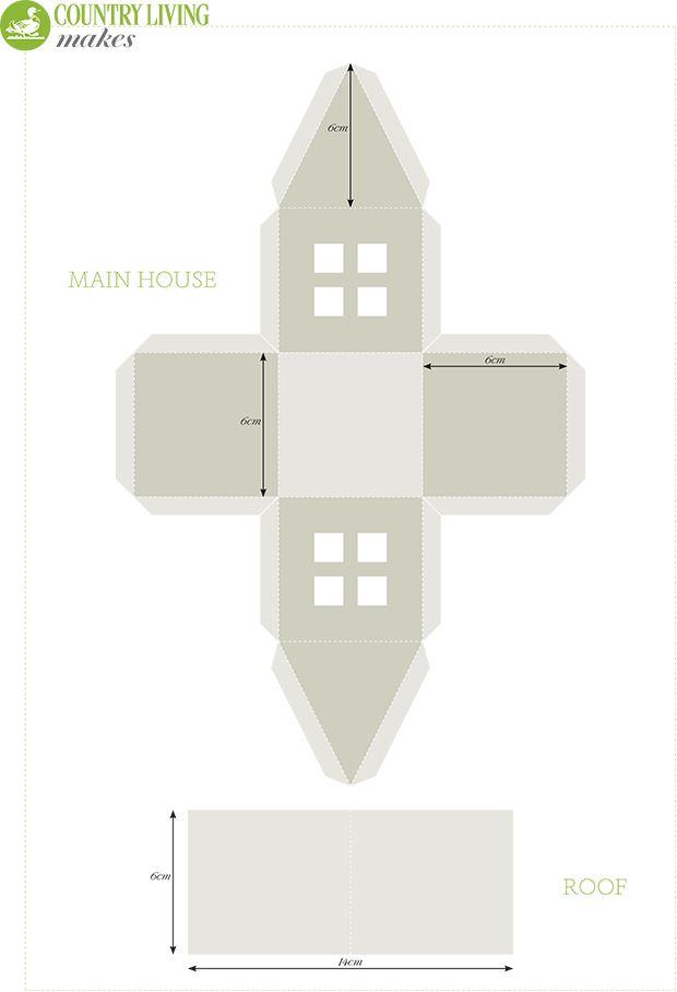 The 25 best ideas about House Template – Paper House Template