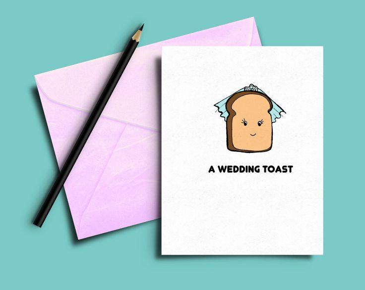 FUNNY wedding card, Funny wedding toast, humorous wedding card,wedding toast. by karenflanart on Etsy