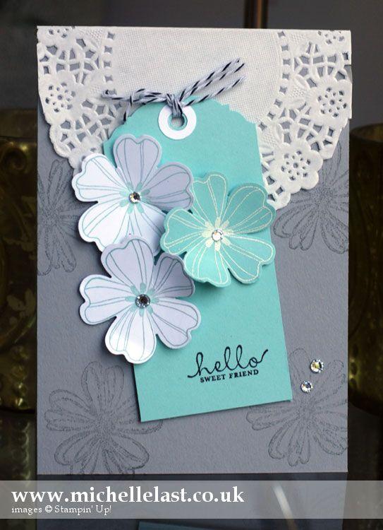 Stampin' Up! Flower Shop Handmade Card - Stampin' Up! Demonstrator Michelle Last