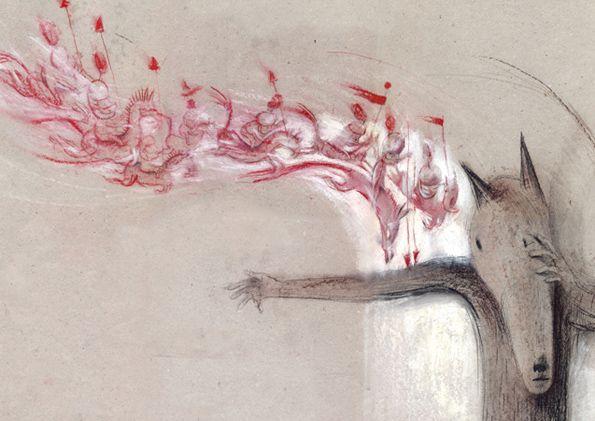 """Eva Montanari illustration for """"Da Quando e arrivato Lallo""""."""