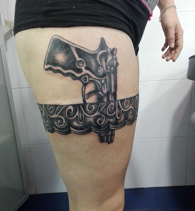 Tatuaje de pistola realizado en nuestro centro de Montera de Madrid.    #tattoo #tattoos #tattooed #tattooing #tattooist #tattooart #tattooshop #tattoolife #tattooartist #tattoodesign #tattooedgirls #tattoosketch #tattooideas #tattoooftheday #tattooer #tattoogirl #tattooink #tattoolove #tattootime #tattooflash #tattooedgirl #tattooedmen #tattooaddict#tattoostudio #tattoolover #tattoolovers #tattooedwomen#tattooedlife #tattoostyle #tatuajes #tatuajesmadrid #ink #inktober #inktattoo