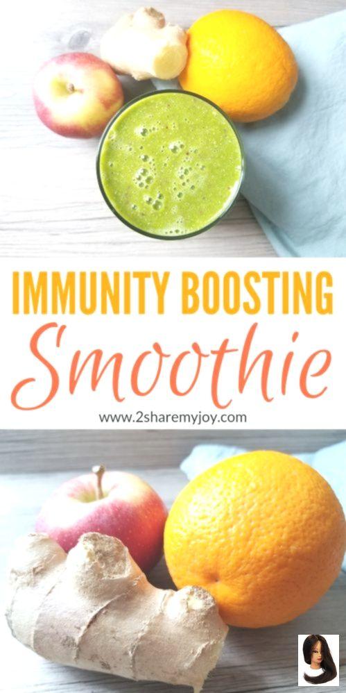 Immunity Boosting (Green) Smoothie Rezept (vegan, ölfrei, glutenfrei – New Pictures