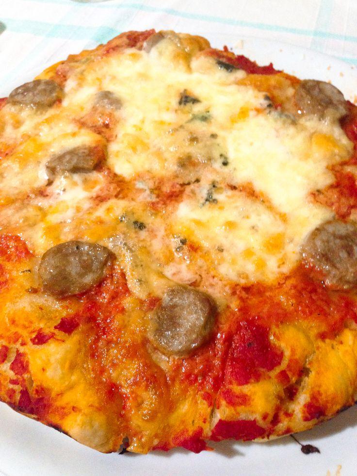 La mia Pizza 🍕 con Salsiccia