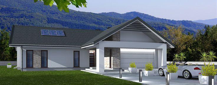Laredo to projekt domu parterowego o powierzchni użytkowej 114,8 m2.