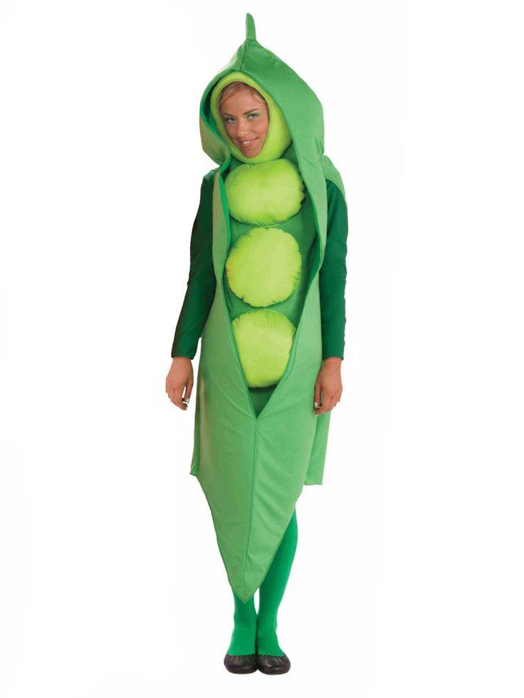 Erbsenschote Unisex-Kostüm Karnevalskostüm grün erbsenschoten