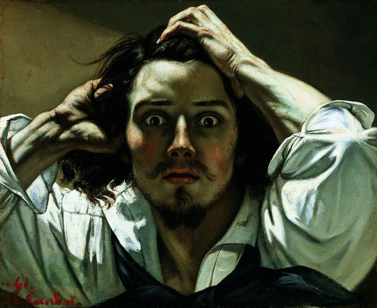 """Gustave Courbet (French, 1819-1877), The Desperate Man, 1844-45, Oil on canvas, 17-3/4 x 21-5/8"""", Private Collection, courtesy of Conseil Investissement Art BNP"""