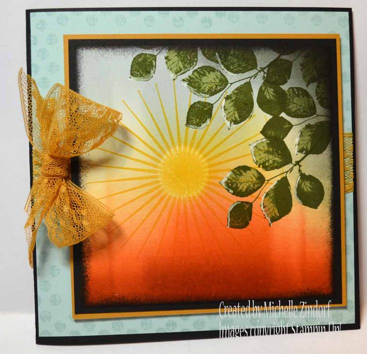 Through the Leaves – Stampin' Up! Card created by Michelle Zindorf using the Kinda Eclectic Stamp Set