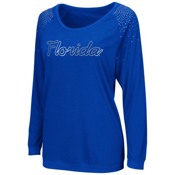 Florida Gators Women's Glitz Long Sleeve T-Shirt – Royal Blue - $27.99