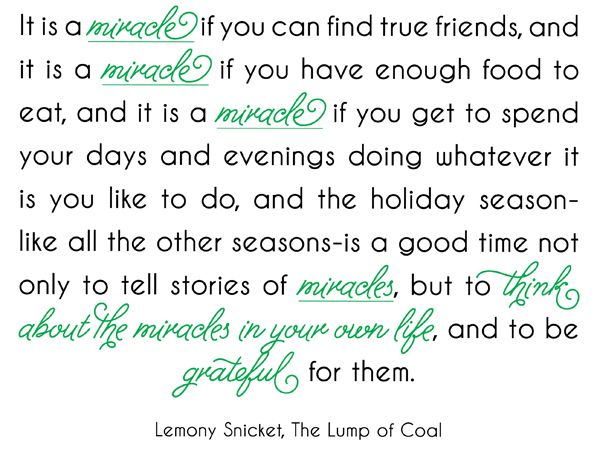 Lemony Snicket The Lump Of Coal Quotes Pinterest