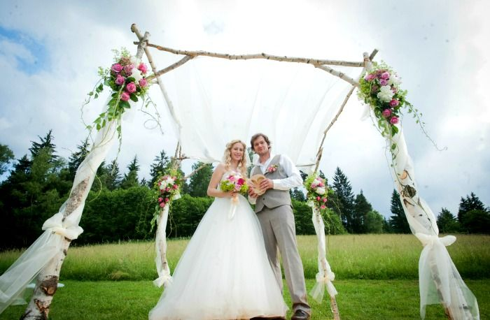 wedding arch, M&P