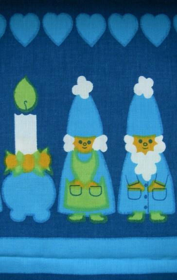vintage 1960s Swedish Christmas fabric