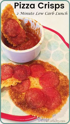 Pizza Crisps are a super quick ultra low carb meal or snack that is fast, warm, satisfying and crunchy. Make them in under 2 minutes.