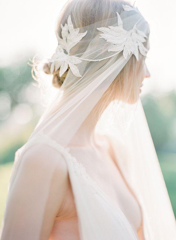 Veil: Jannie Baltzer - Luminous & ethereal bridal shoot by Tahnee Sanders (Creative director), Vasia Weddings & Artiese Studios + Boheme Studio (Workshop) - via Magnolia Rouge
