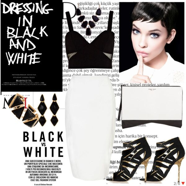 """""""Dressing in black and white"""" by michellezee on Polyvore"""