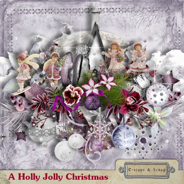 A Holly Jolly Christmas by Black Lady Designs