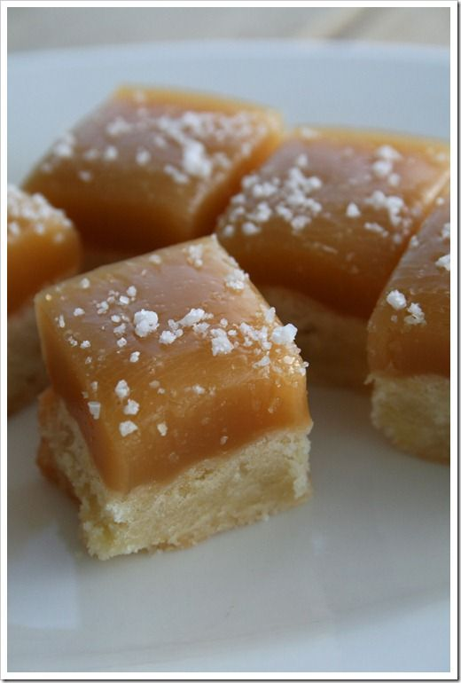 Caramel Topped Shortbread Bites- Two of my favorites... caramel and shortbread!