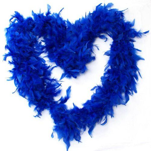 Blaue Federboa | Kostüm selber machen
