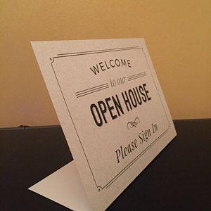 PDF Instant Digital Download Print Ready PDF, Open House Real Estate Door Hanger, Real Estate Generic Prospecting Open House PDF, 3.5 x 8.5